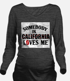 Somebody In California Long Sleeve Maternity T-Shi