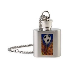 Soccer Ball from hell Flask Necklace