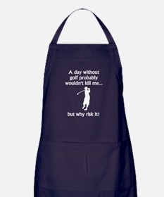 A Day Without Golf Apron (dark)