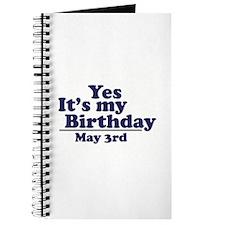 May 3 Birthday Journal