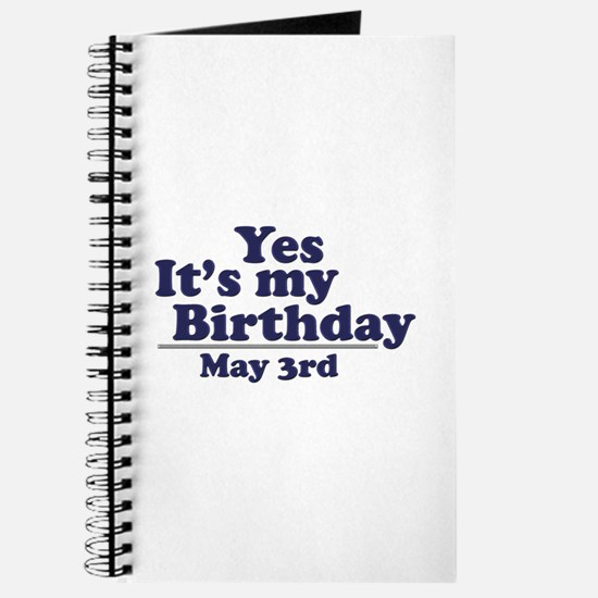 May 3 Birthday Journal