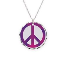 peace pink purp Necklace