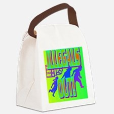 ILLEGALS OUT!(button) Canvas Lunch Bag
