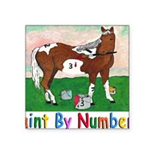 """PAINT BY NUMBERS mouse pad Square Sticker 3"""" x 3"""""""