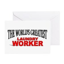 """""""The World's Greatest Laundry Worker"""" Greeting Car"""