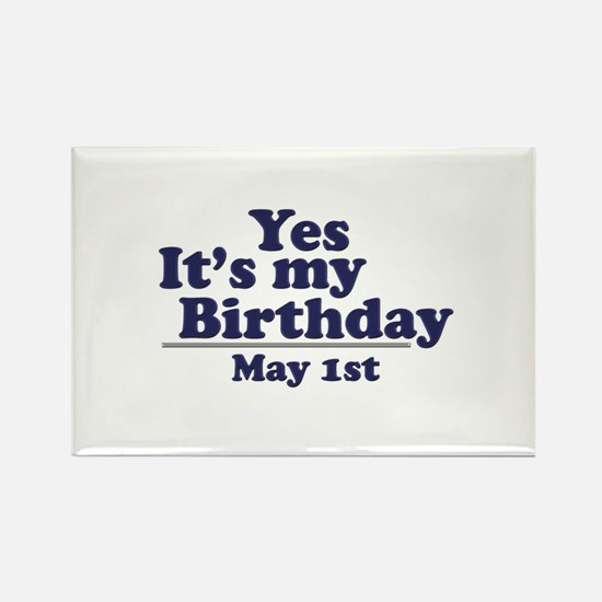 May 1 Birthday Rectangle Magnet (10 pack)