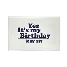 May 1 Birthday Rectangle Magnet