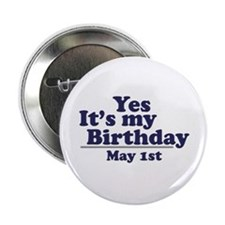 May 1 Birthday Button