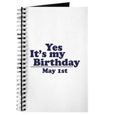 May 1 Birthday Journal