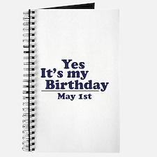 May 1 Birthday Journal