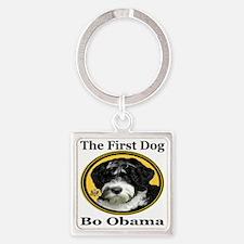 2-The_First_Dog_Bo_Obama_georgiafo Square Keychain
