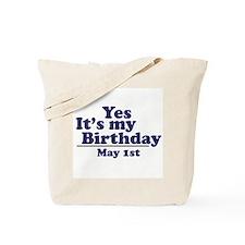 May 1 Birthday Tote Bag