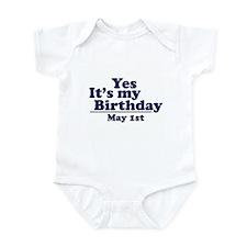 May 1 Birthday Infant Bodysuit
