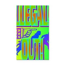 ILLEGALS OUT!(large poster) Rectangle Car Magnet