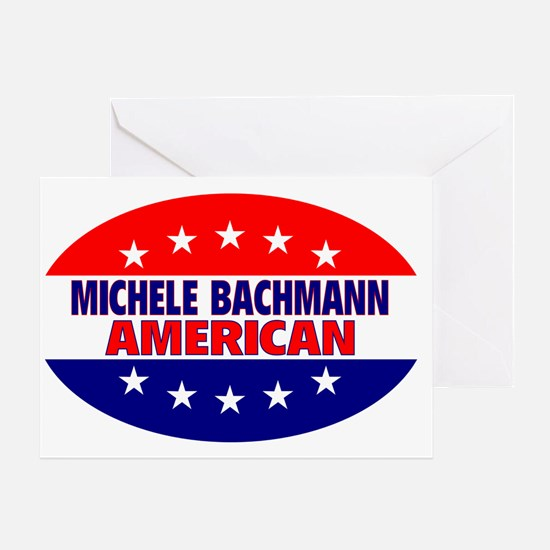 OvalStickerMicheleBachmanAmerican Greeting Card