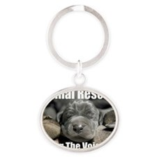 animal rescue Oval Keychain