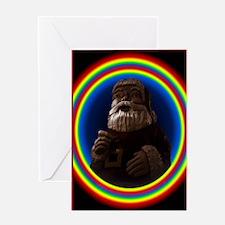 6438-giant-choc-rainbow-Santa-Mag-A  Greeting Card