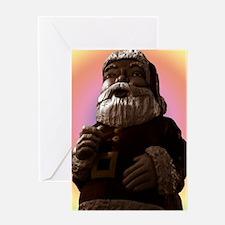 6438-giant-pastel-light-Santa-Creamy Greeting Card