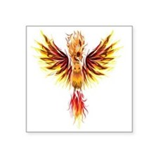 "phoenixtransparent Square Sticker 3"" x 3"""