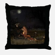 Werewolf And Gothic Female Love Throw Pillow