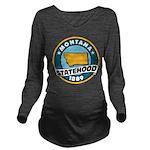 Montana Statehood Long Sleeve Maternity T-Shirt