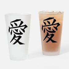 love-japanese symbol Drinking Glass