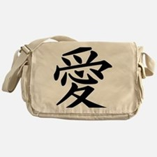 love-japanese symbol Messenger Bag