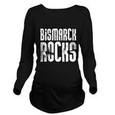 Bismarck Rocks Long Sleeve Maternity T-Shirt