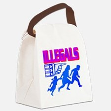 ILLEGALS(front).gif Canvas Lunch Bag