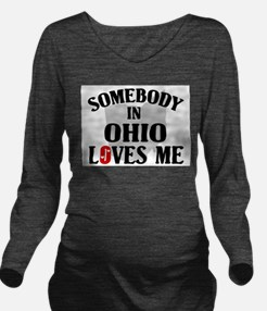 Somebody In Ohio Long Sleeve Maternity T-Shirt
