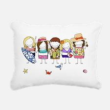 Girls Weekend Rectangular Canvas Pillow