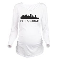 Pittsburgh Skyline Long Sleeve Maternity T-Shirt