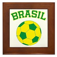 soccerballBR Framed Tile