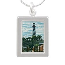 St. Augustine Lighthouse Silver Portrait Necklace
