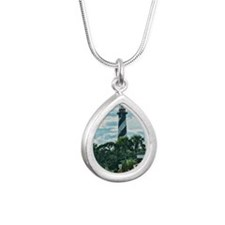 St. Augustine Lighthouse Silver Teardrop Necklace