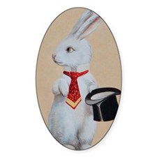 White Rabbit with Top Hat Decal