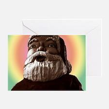 2-6438-giant-pastel-light-Santa-TILE Greeting Card