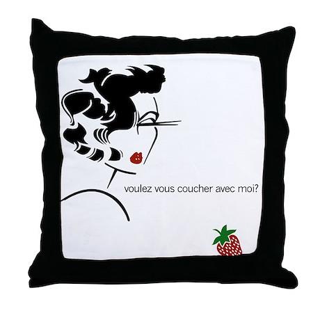 Voulez vous couche Throw Pillow