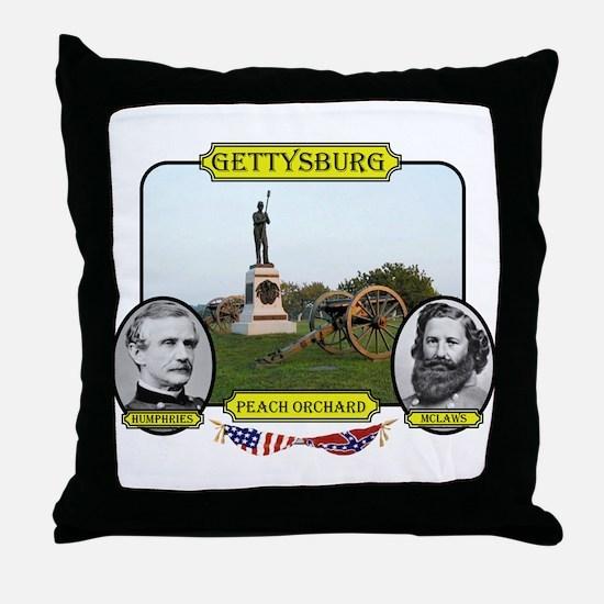 Gettysburg-Peach Orchard Throw Pillow
