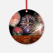 Fireworks Round Ornament