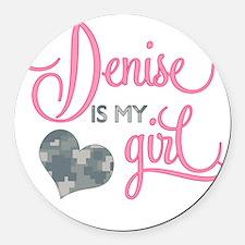 RoxyisMyGirl_Denise Round Car Magnet