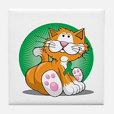 Bipolar-Disorder-Cat-bllk Tile Coaster