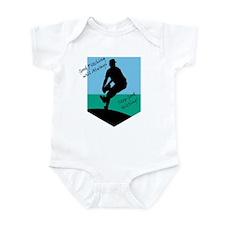 Good Pitching Stops Good Hitting Infant Bodysuit