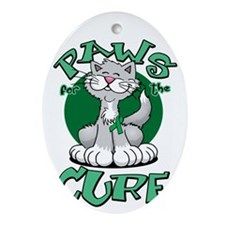 Paws-for-the-Cure-Cat-Bipolar-Disord Oval Ornament