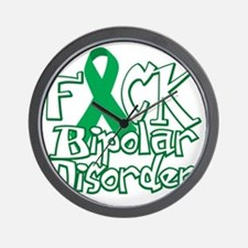 Fuck-Bipolar-Disorder-blk Wall Clock