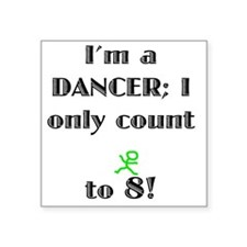 "Count To 8 Square Sticker 3"" x 3"""