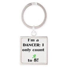 Count To 8 Square Keychain