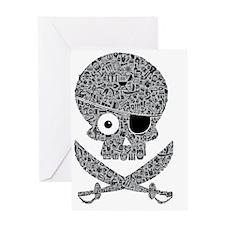 2010 Skull - grey Greeting Card