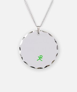 Count To 8 White Necklace Circle Charm