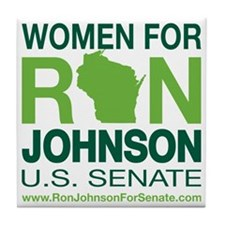 Women For Ron_front2 Tile Coaster